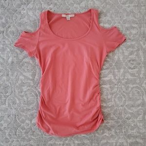 Sexy Cold Shoulder Low-Cut Knit T-Shirt